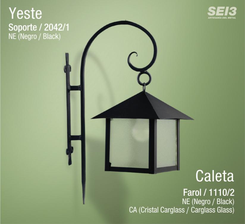 Faroles y apliques de exterior sei3 iluminaci n artesanal for Faroles para exterior precios