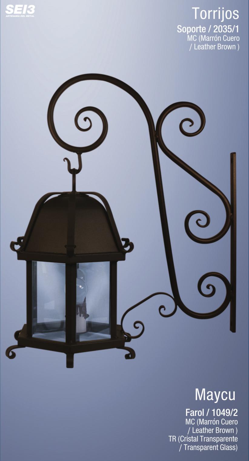 Faroles y apliques de exterior sei3 iluminaci n artesanal for Faroles para iluminacion exterior