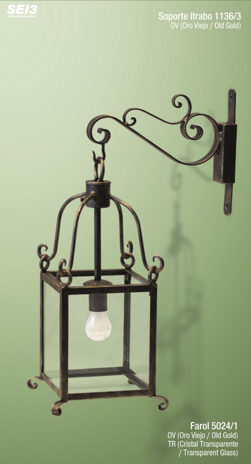 Faroles y apliques de interior sei3 iluminaci n artesanal for Disenos de faroles